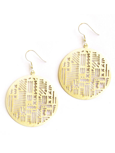 Timbuktu Earrings Gold