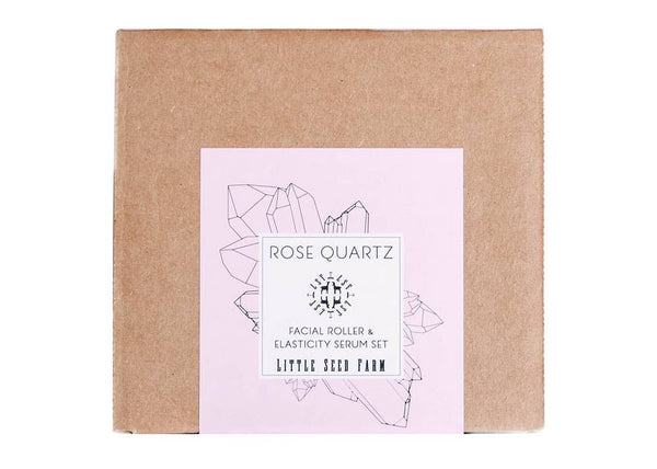 Rose Quartz Roller + Elasticity Serum Gift Set