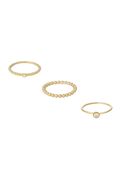 Ring - Ettika Understated Stacking Ring Set of 3 - Girl Intuitive - Ettika -
