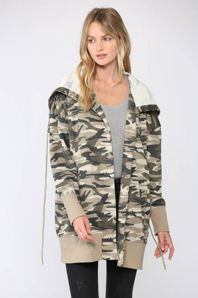 Fate Camo Printed Terry Hooded Jacket