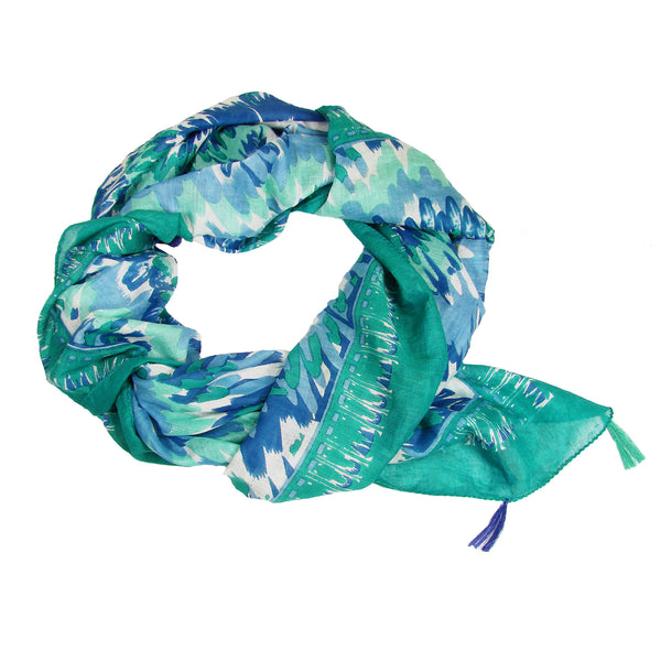 Feather Scarf Teal