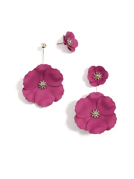 Flower Power Drop Earrings berry