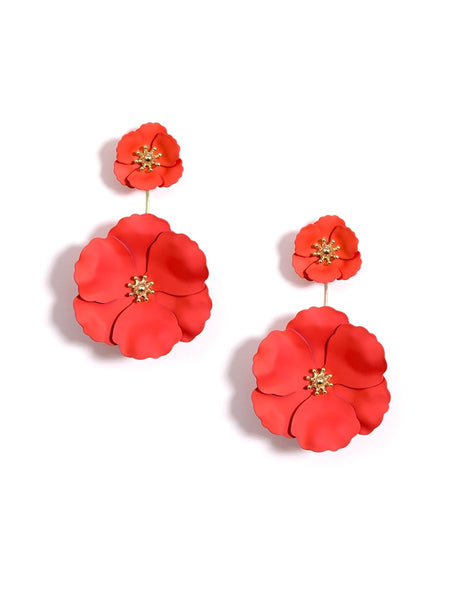 Flower Power Drop Earrings flame