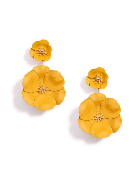 Flower Power Drop Earrings honey
