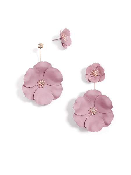 Flower Power Drop Earrings rose