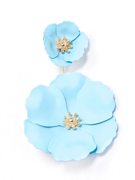 Flower Power Drop Earrings blue