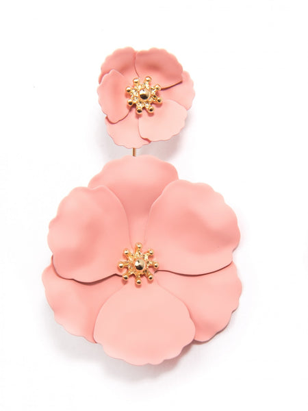 Flower Power Drop Earrings pink