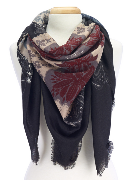 Folk Design Scarves black