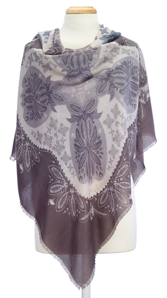 Folk Design Scarves grey