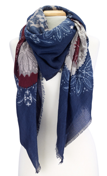 Folk Design Scarves navy