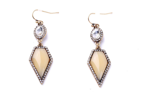 Geo Glam Drop Earrings