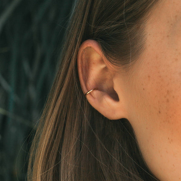 earrings - Gold-Filled Smooth Ear Cuff - Girl Intuitive - Mod + Jo -