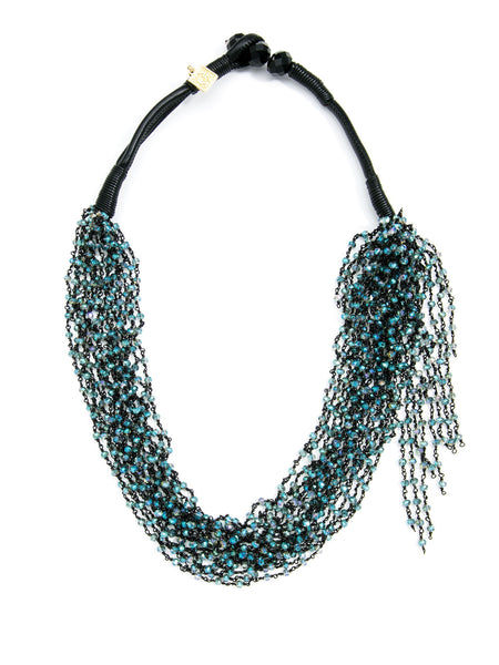 Handmade Beaded Layer Collar Necklace