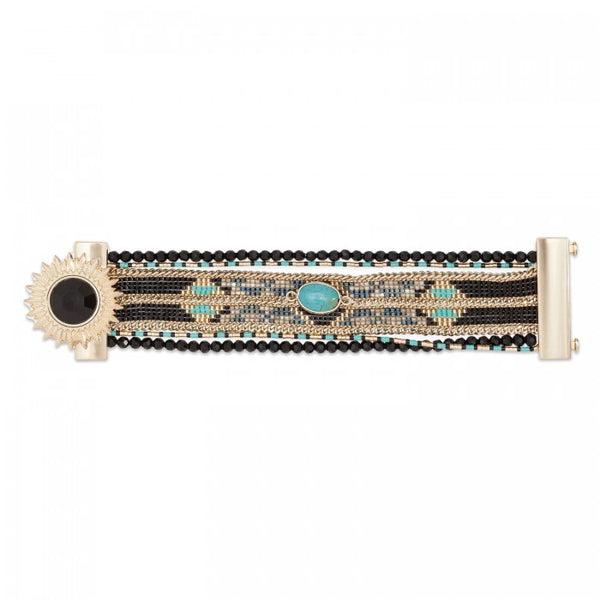 Hipanema Eternity Bracelet Black flat