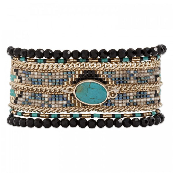 Hipanema Eternity Bracelet Black front