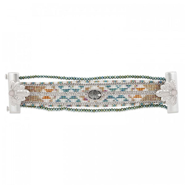 Hipanema Eternity Bracelet Khaki flat