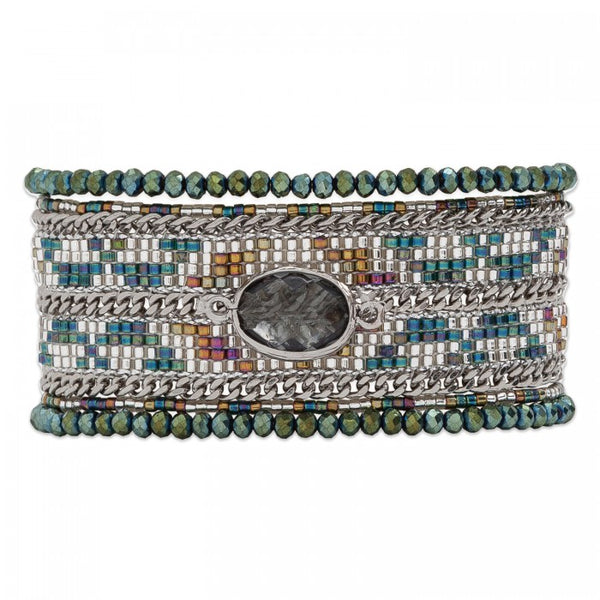 Hipanema Eternity Bracelet Khaki front