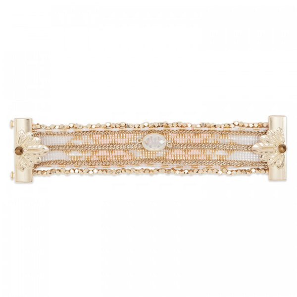 Hipanema Eternity Bracelet White flat