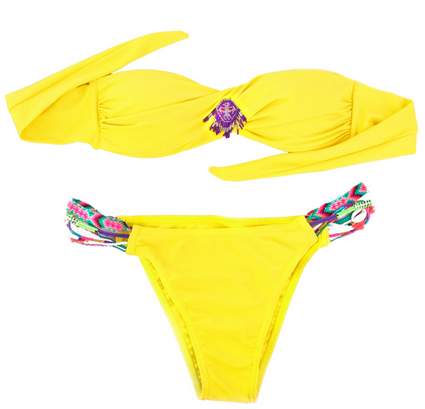 Amenapih Yellow Swimsuit - Girl Intuitive
