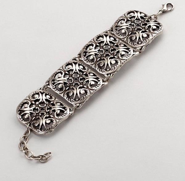 Damask Filigree Link Bracelet
