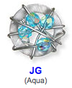 JG Aqua color bead