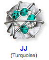 JJ Turquoise color beads