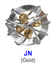 JN gold color beads
