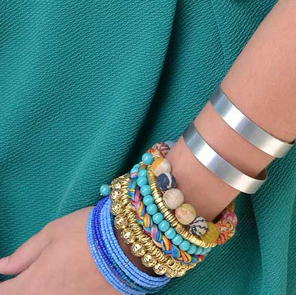 bracelet - Kantha Fabric Spiral Bracelet - Girl Intuitive - WorldFinds -