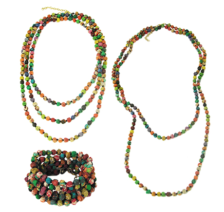 kantha beaded necklace