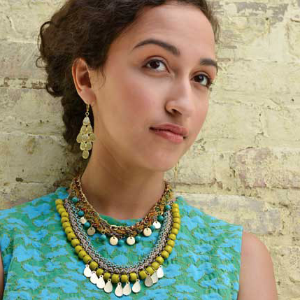 kantha fiesta necklace