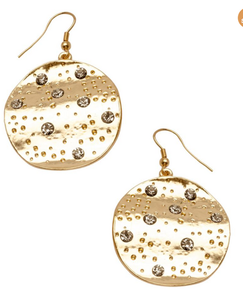 Karine Sultan Drop Disc Earrings