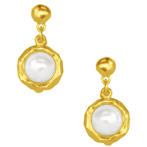 Jeanne Gold Earrings with Pearl