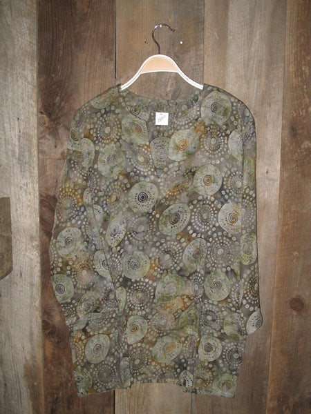 Batik Tunic in Khaki - Girl Intuitive