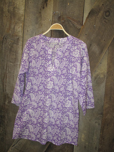Cotton Tunic Top Lavender