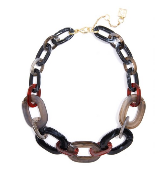 Marbled Links Collar Necklace
