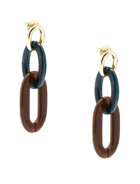 Marbled Links Drop Earrings