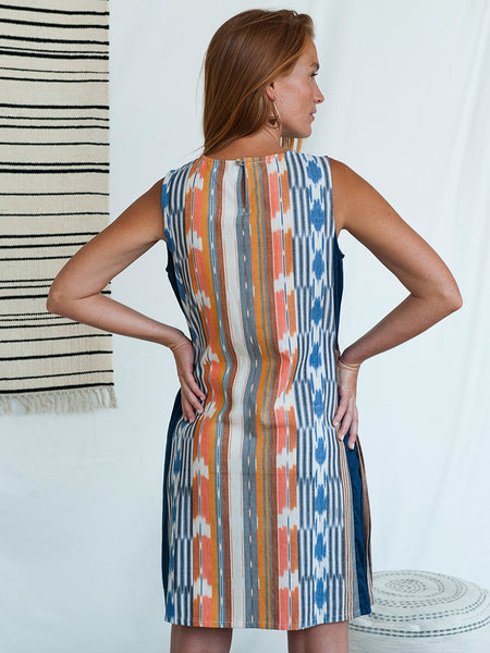 Mata Traders Dakota Dress Rainbow Ikat back