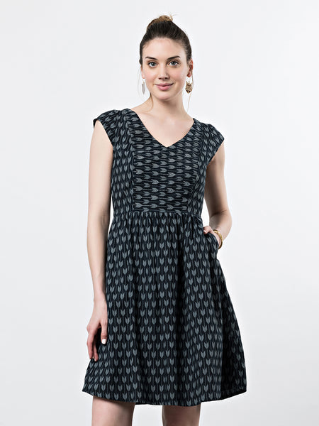 Mata Traders Aurora V-Neck Dress Slate