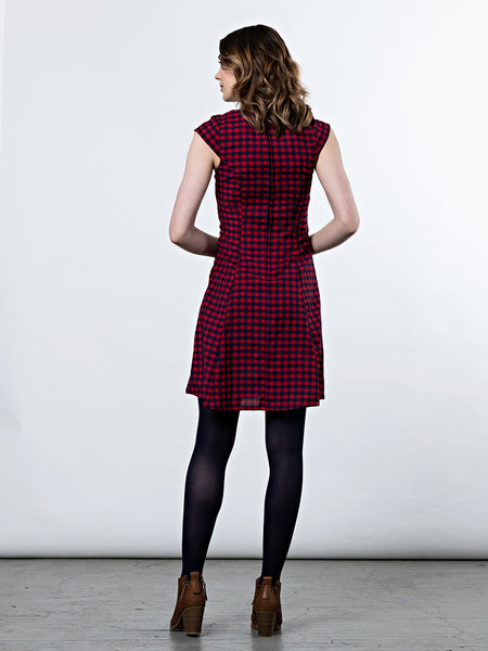 Mata Traders Emma Dress Red Gingham back