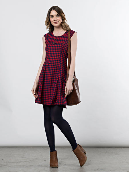 Mata Traders Emma Dress Red Gingham