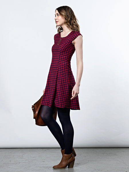 Mata Traders Emma Dress Red Gingham side