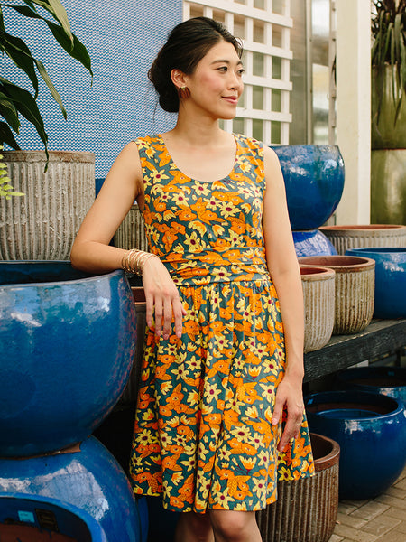 Mata Traders Shoreline Dress Orange Floral