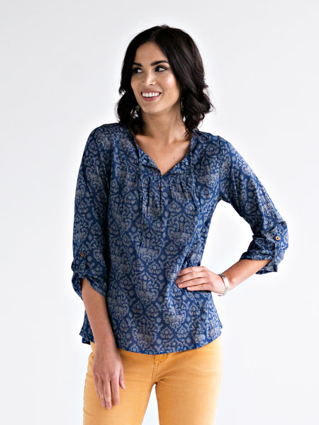 Mata Traders Merida Blouse Powder Blue