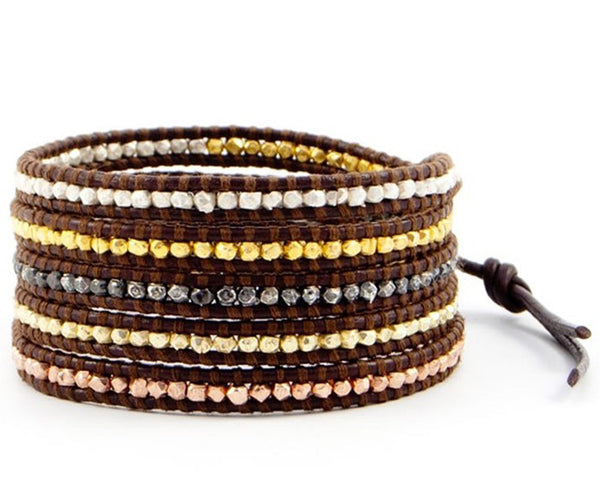 Mixed Metal Wrap Bracelet