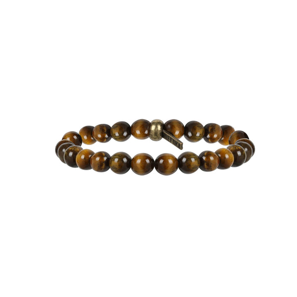 Mr. Ettika Bangle Banger Bracelet in Tiger's Eye and Brass