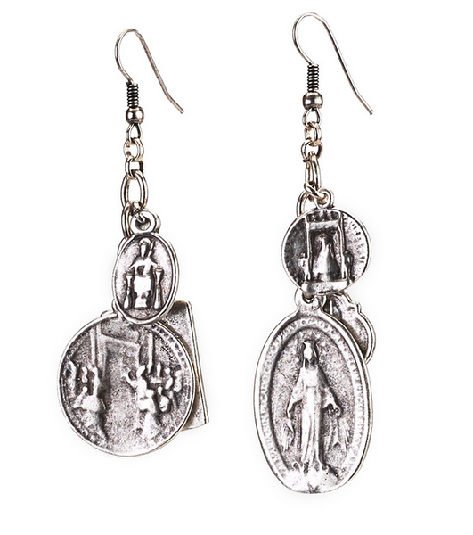 Religious Inspired Multi-Charm Earrings