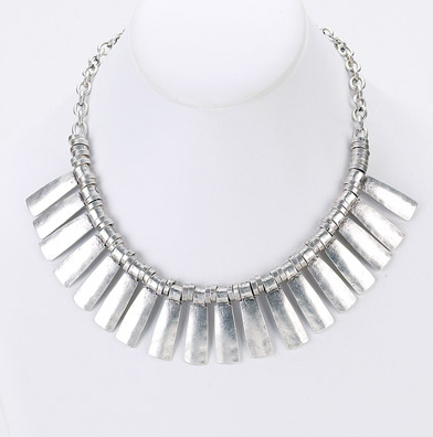 Multi Drop Shield Statement Necklace