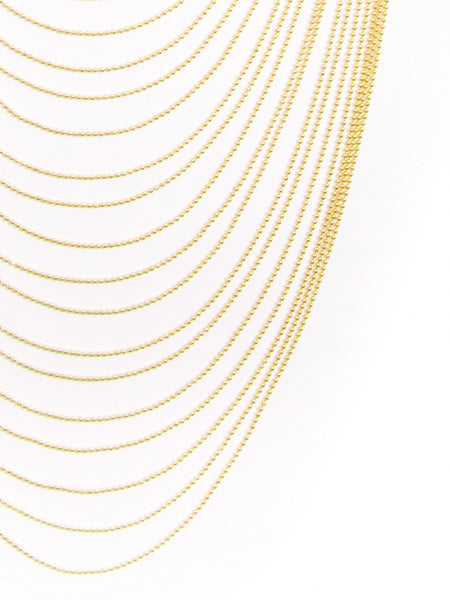 Multi-Row Chain Layered Necklace gold