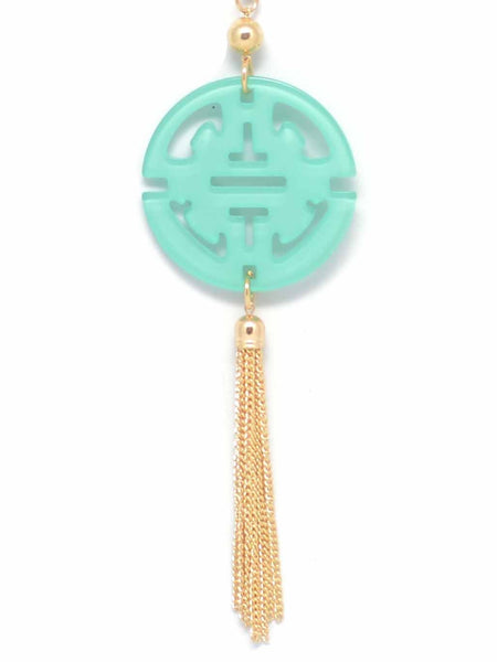 Travel Tassel Long Necklace