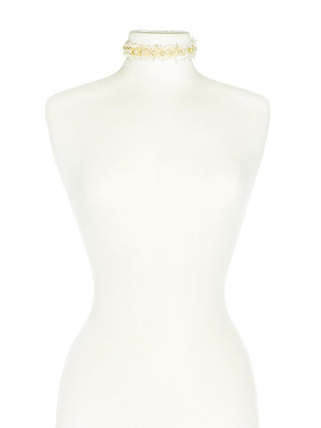 Pearly White Choker neck